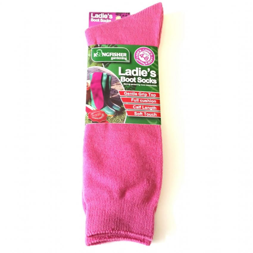 Ladies Wellington Boot Socks - 1 Pair - Size 4-8 37-41